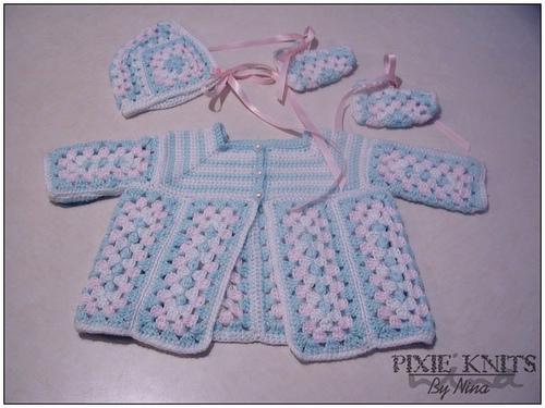 Granny's Baby Crochet Layette. ©CherrySprinkle.com. DO NOT COPY