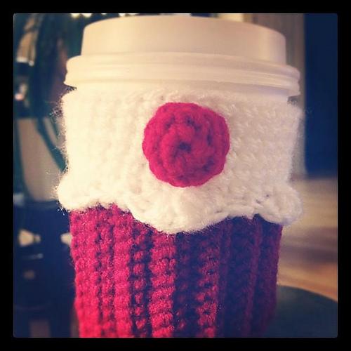 Red Velvet Cupcake Cup Holder. ©CherrySprinkle.com. DO NOT COPY