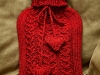 Hearts Hotwater Bottle Cozy. ©CherrySprinkle.com. DO NOT COPY