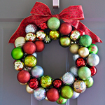 DIY Ornament Wreath by Cherry Sprinkle